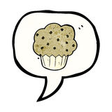 Cartoon muffin symbol Royalty Free Stock Image