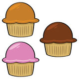 Cartoon muffins 1 Stock Images
