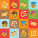 Cartoon muffins Royalty Free Stock Photo