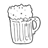 Cartoon mug of beer Stock Photos