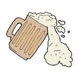 Cartoon mug of beer Royalty Free Stock Photo