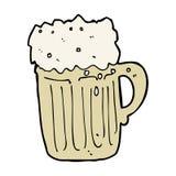 Cartoon mug of beer Stock Photo
