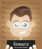 Cartoon mugshot Royalty Free Stock Photos