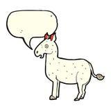 Cartoon mule with speech bubble Stock Photo