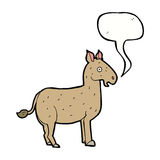Cartoon mule with speech bubble Royalty Free Stock Photos