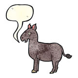 Cartoon mule with speech bubble Stock Images