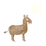 Cartoon mule with thought bubble Royalty Free Stock Photo