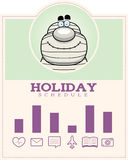 Cartoon Mummy Halloween Graphic Royalty Free Stock Photos