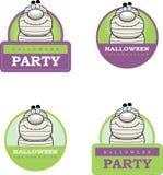 Cartoon Mummy Halloween Graphic Stock Images