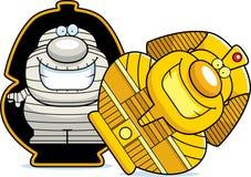 Cartoon Mummy Sarcophagus Stock Image