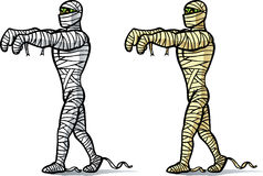 Cartoon Mummy walking. Royalty Free Stock Photography