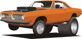 Cartoon Muscle Car Stock Images