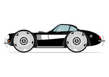 Cartoon muscle car Royalty Free Stock Images