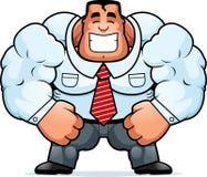 Cartoon Muscular Businessman Stock Image