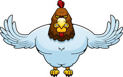 Cartoon Muscular Rooster Stock Photo