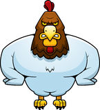Cartoon Muscular Rooster Stock Photos