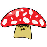 Cartoon mushroom Royalty Free Stock Photography