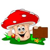 A cartoon mushroom Royalty Free Stock Photos