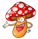 Cartoon mushroom Stock Photos