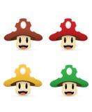 Cartoon mushroom Stock Images