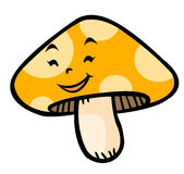 Cartoon mushroom Royalty Free Stock Image
