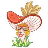 Cartoon Mushroom Chanterelle Russula boletus Royalty Free Stock Images