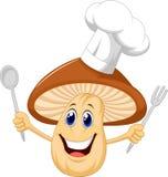 Cartoon mushroom chef vector illustration