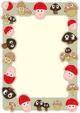 Cartoon Mushroom Frame_eps Royalty Free Stock Image