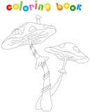 Cartoon mushroom house Royalty Free Stock Photo