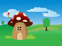 Cartoon mushroom house Royalty Free Stock Photography