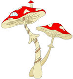 Cartoon mushroom house Stock Photography