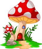 Cartoon mushroom house for you design Stock Image