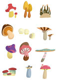 Cartoon mushroom icon Stock Photography