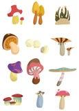 Cartoon mushroom icon Stock Photography