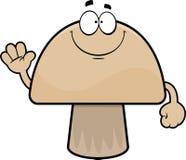 Cartoon Mushroom Smiling Royalty Free Stock Photography