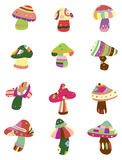 Cartoon Mushrooms icon. Vector drawing Stock Images