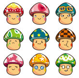Cartoon Mushrooms icon Stock Images