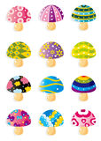 Cartoon Mushrooms icon Stock Image