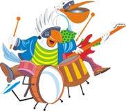 Cartoon music. Cartoon illustration of enjoying playing music Royalty Free Stock Image