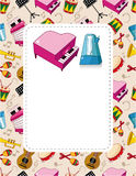 Cartoon Music Card Royalty Free Stock Photo