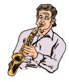 Cartoon music Royalty Free Stock Image