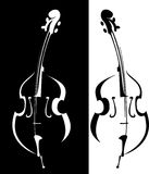 Cartoon musical instrument Royalty Free Stock Images