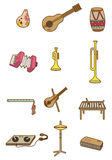 Cartoon Musical instrument icon Royalty Free Stock Image