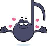 Cartoon Musical Note Hug Stock Photo