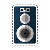 Cartoon musical speaker audio stereo Stock Photography