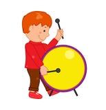 Cartoon musician kid. Vector illustration for children music Stock Photos