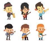 Cartoon Musicians Stock Photography