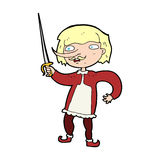 Cartoon musketeer Stock Images