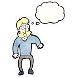 Cartoon mustache man Stock Images