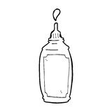 Cartoon mustard bottle Royalty Free Stock Images